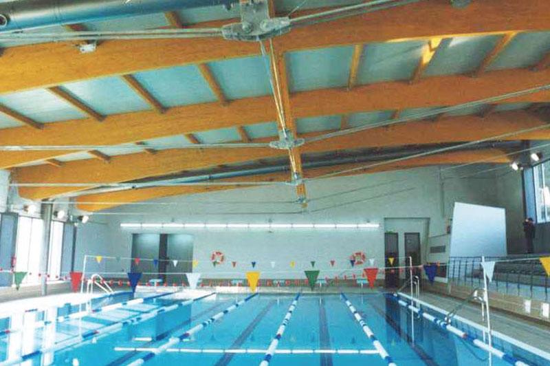 Piscina climatizada villalba construcciones abal for Proyecto de piscina